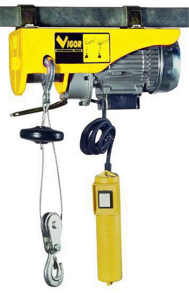 Paranchi elettrici vigor max for Paranco elettrico brico