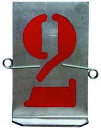 Stampi Numeri Lamiera Zincata - Mm. 40 Cod.4034004 - Vuemme